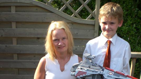 Alex Deane with his mum
