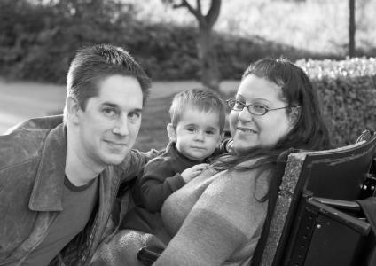 Neil with wife Elana and son Jake