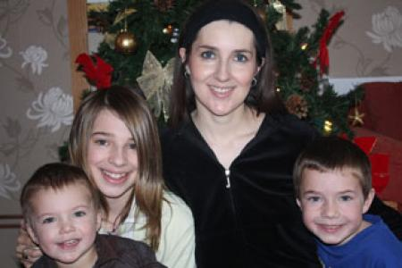 Pictured is Louise with her family.